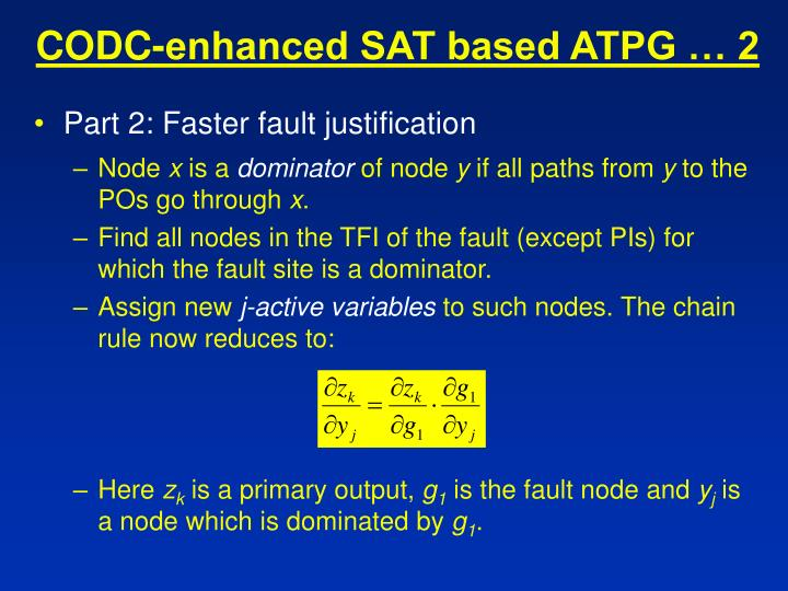 CODC-enhanced SAT based ATPG … 2