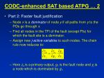 codc enhanced sat based atpg 2