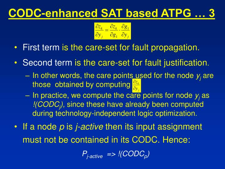 CODC-enhanced SAT based ATPG … 3