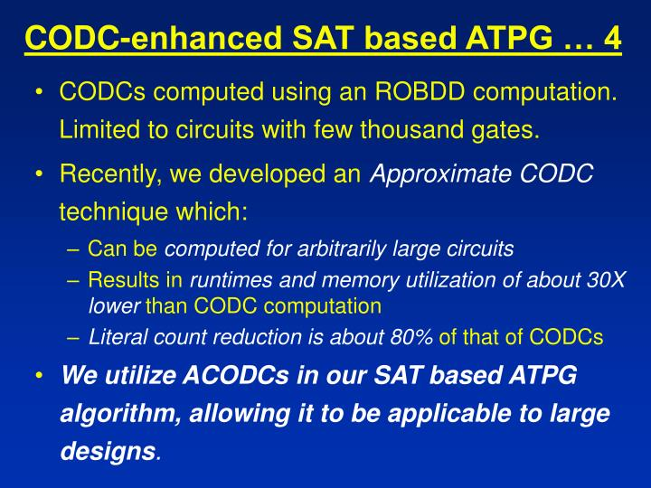 CODC-enhanced SAT based ATPG … 4