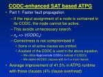 codc enhanced sat based atpg