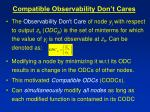 compatible observability don t cares