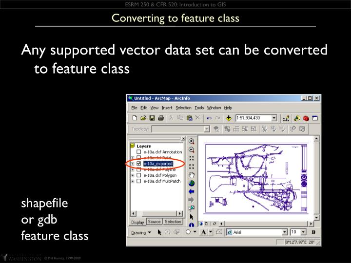 Converting to feature class