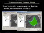 creating new datasets heads up digitizing