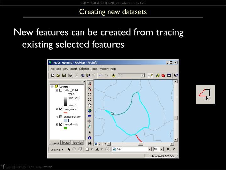 Creating new datasets