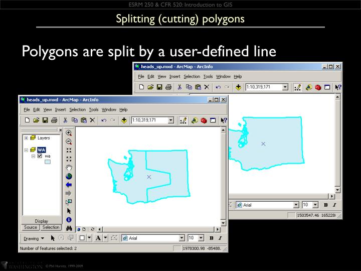 Splitting (cutting) polygons