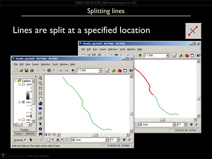 Splitting lines