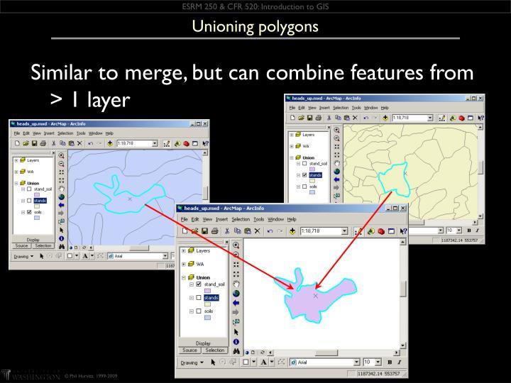 Unioning polygons