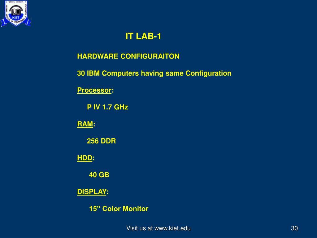 IT LAB-1