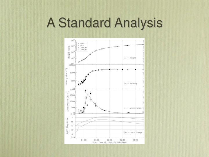 A Standard Analysis