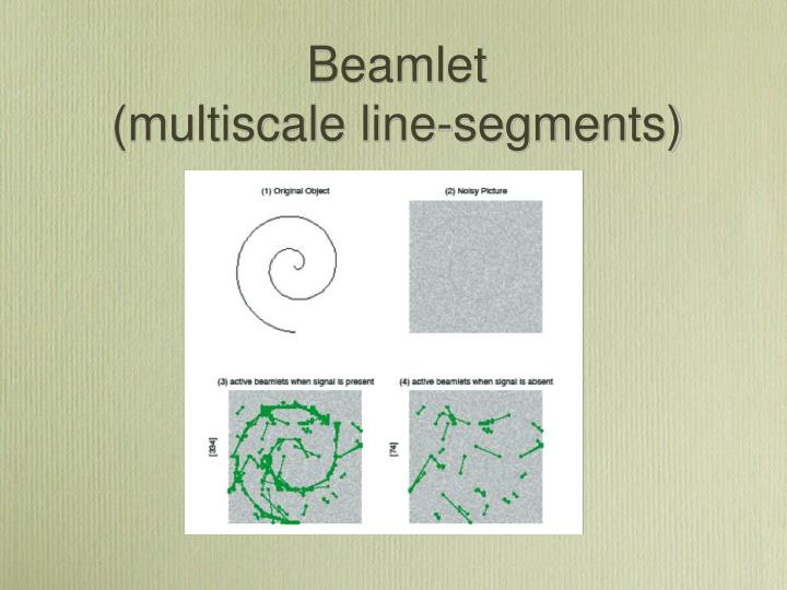 Beamlet                          (multiscale line-segments)