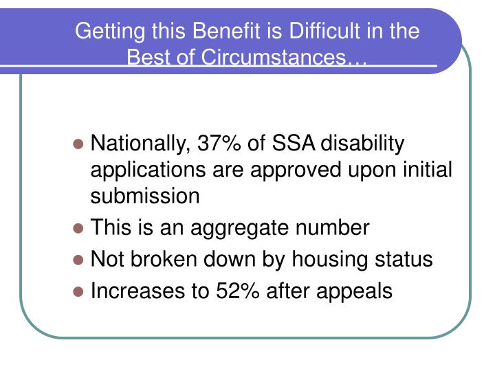 Getting this Benefit is Difficult in the