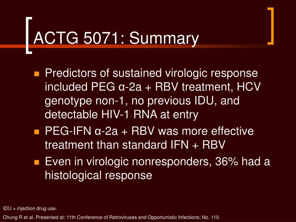 ACTG 5071: Summary