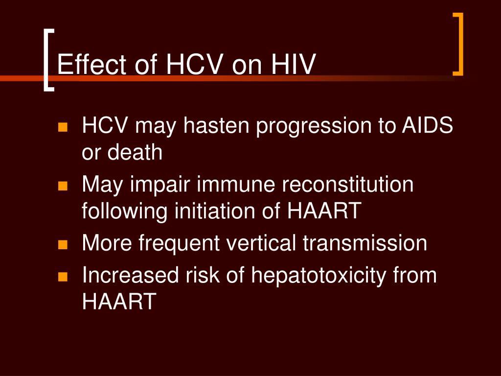 Effect of HCV on HIV