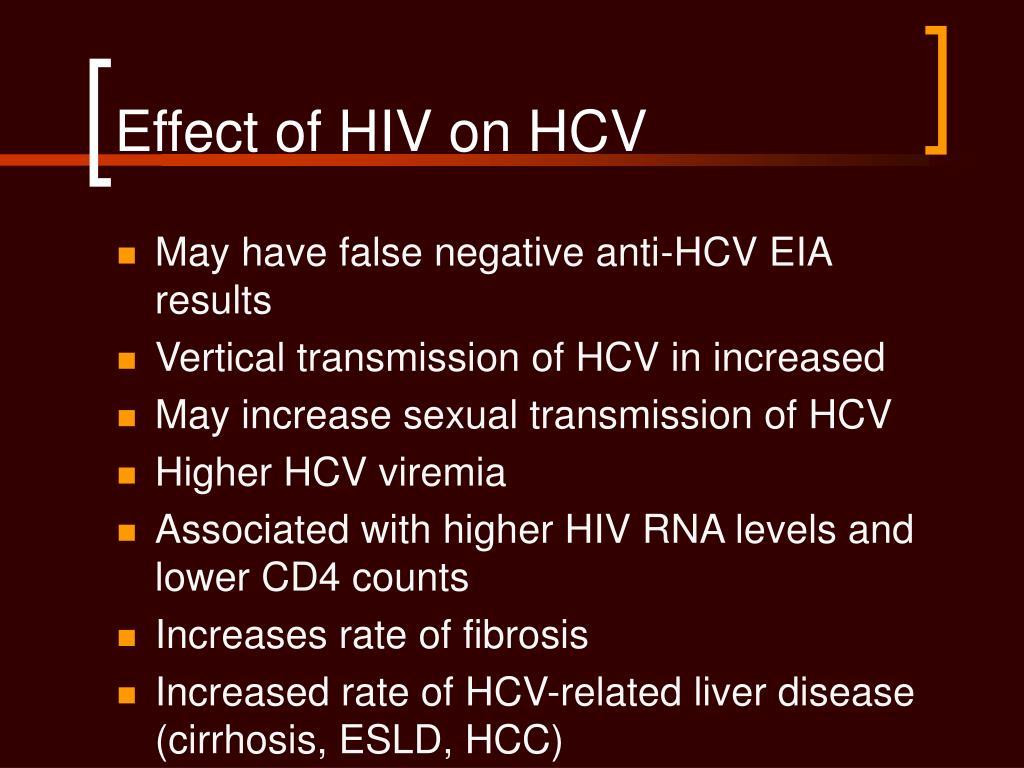 Effect of HIV on HCV