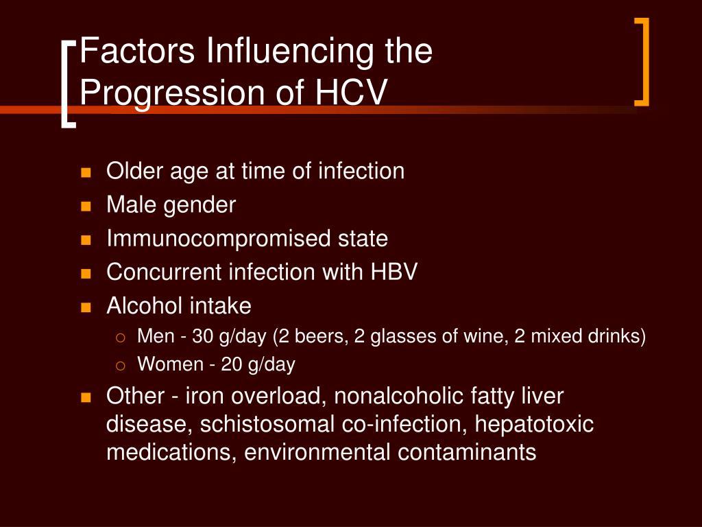 Factors Influencing the Progression of HCV