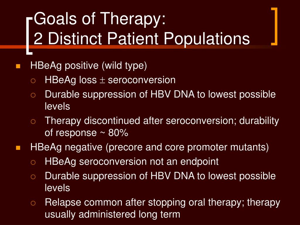 Goals of Therapy: