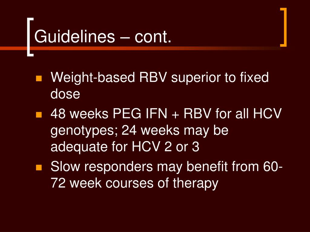 Guidelines – cont.