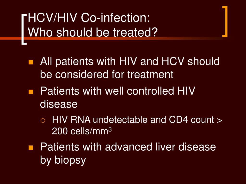 HCV/HIV Co-infection: