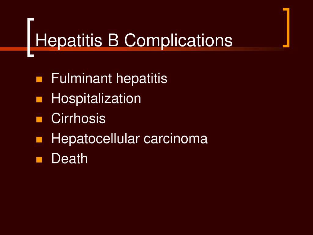 Hepatitis B Complications
