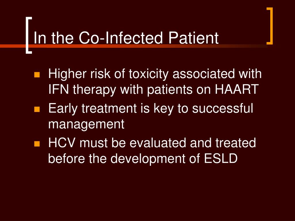 In the Co-Infected Patient