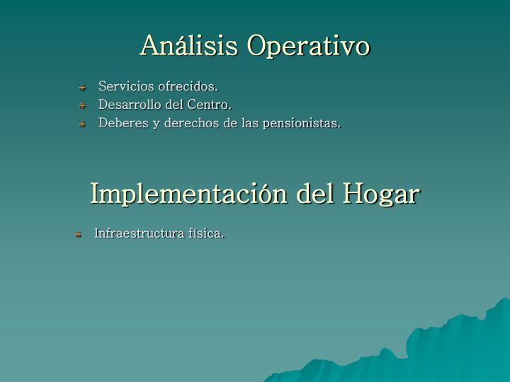 Análisis Operativo