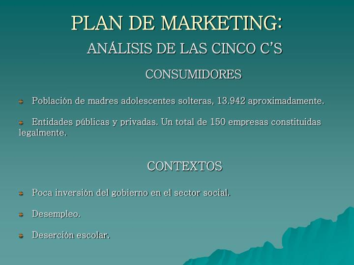 PLAN DE MARKETING: