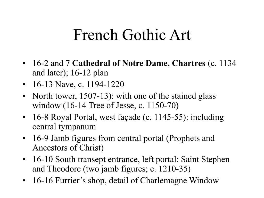 French Gothic Art