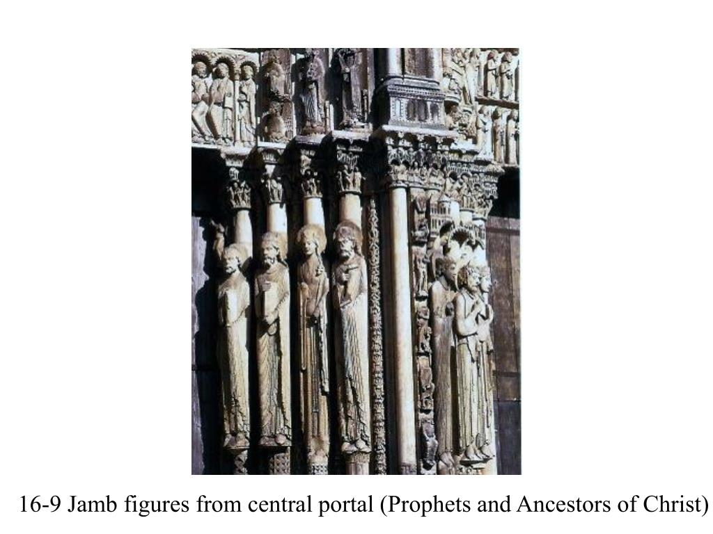 16-9 Jamb figures from central portal (Prophets and Ancestors of Christ)