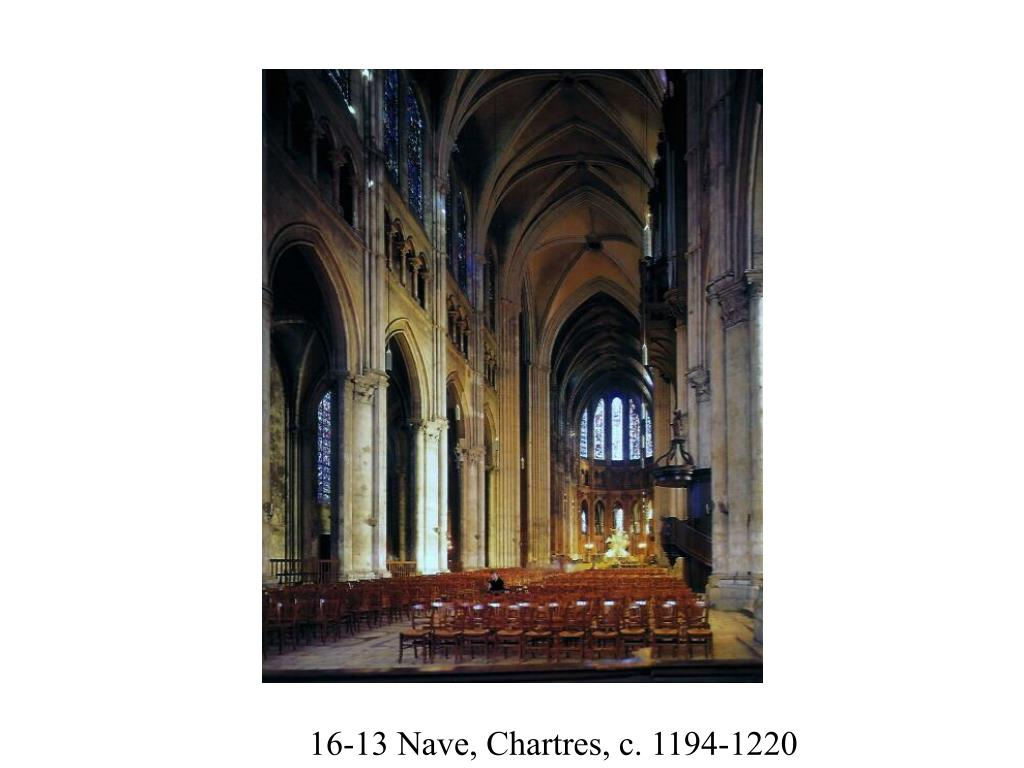 16-13 Nave, Chartres, c. 1194-1220