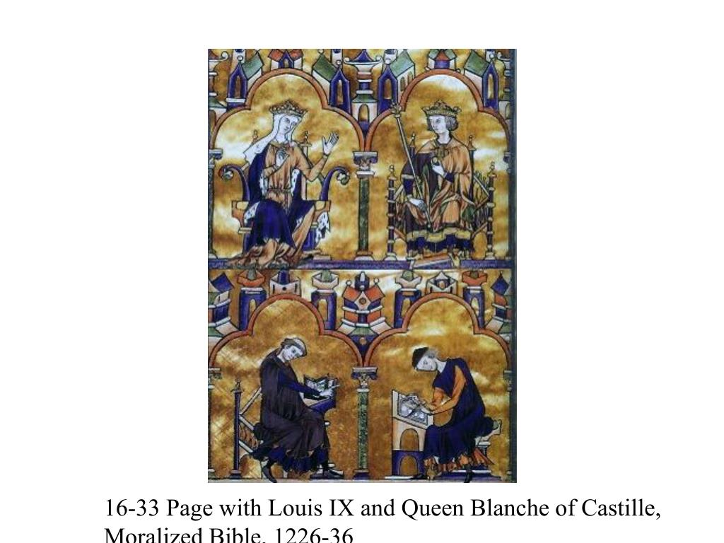 16-33 Page with Louis IX and Queen Blanche of Castille,