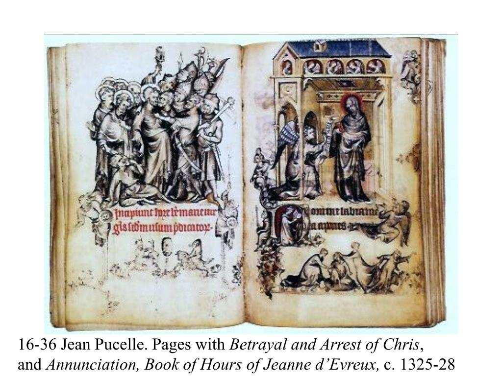 16-36 Jean Pucelle. Pages with