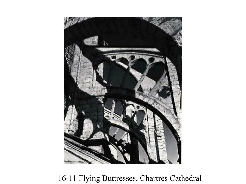 16-11 Flying Buttresses, Chartres Cathedral