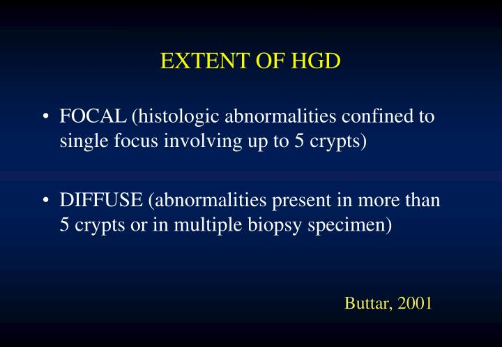 EXTENT OF HGD