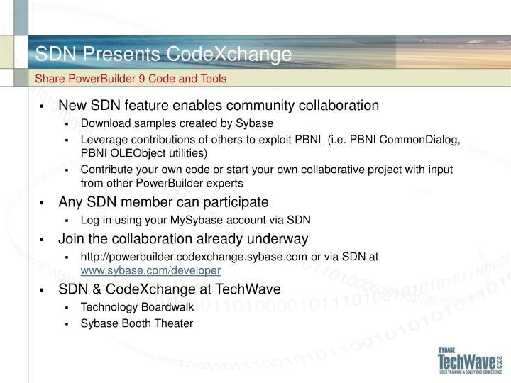 SDN Presents CodeXchange
