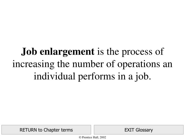 Job enlargement