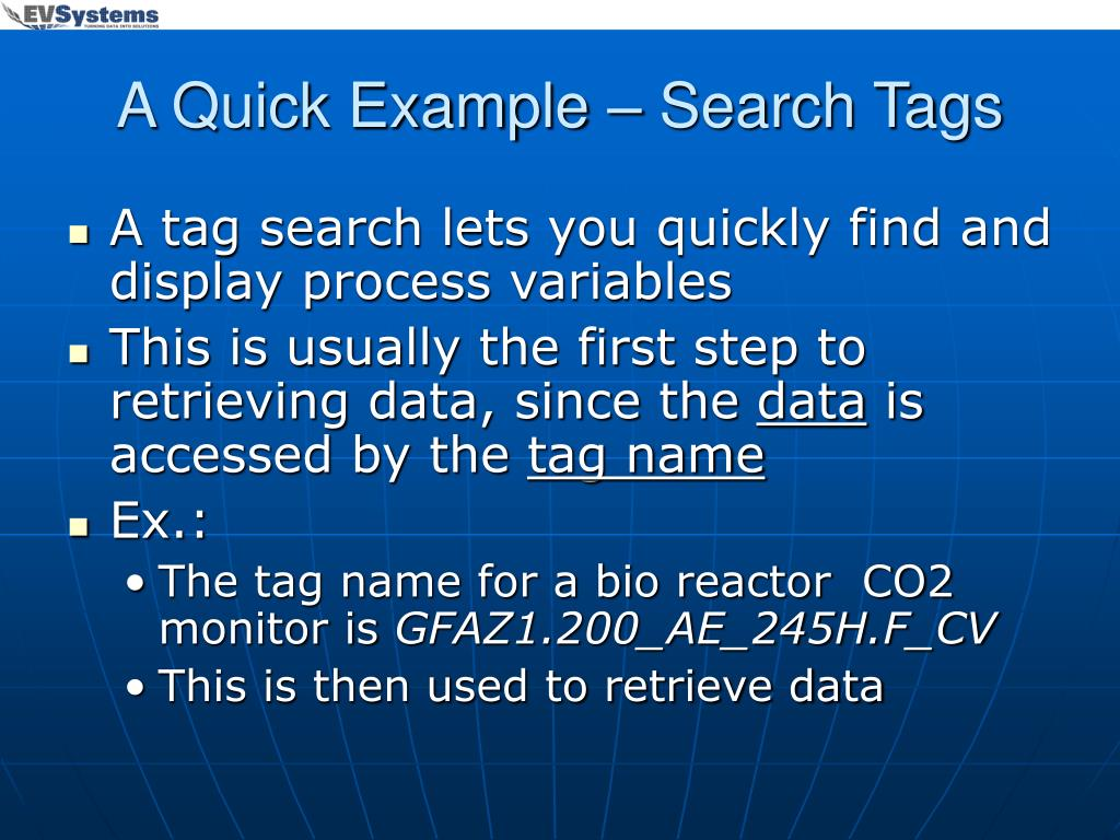 A Quick Example – Search Tags