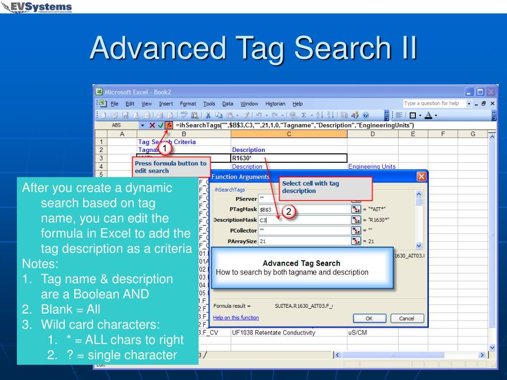 Advanced Tag Search II