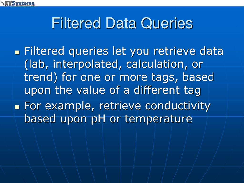Filtered Data Queries