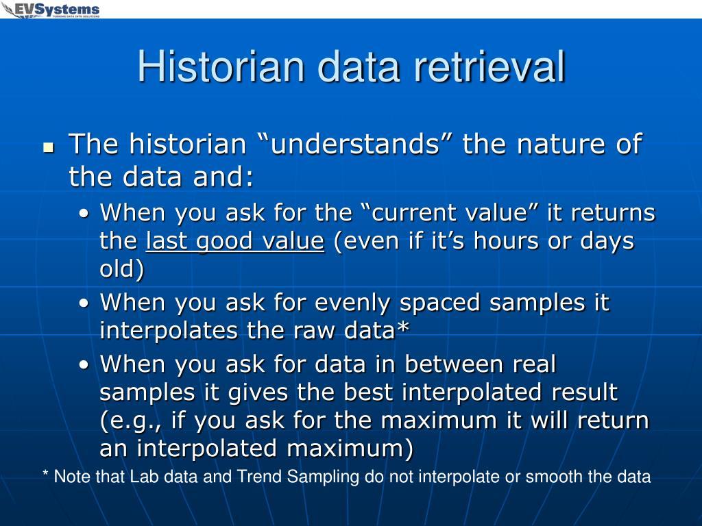 Historian data retrieval