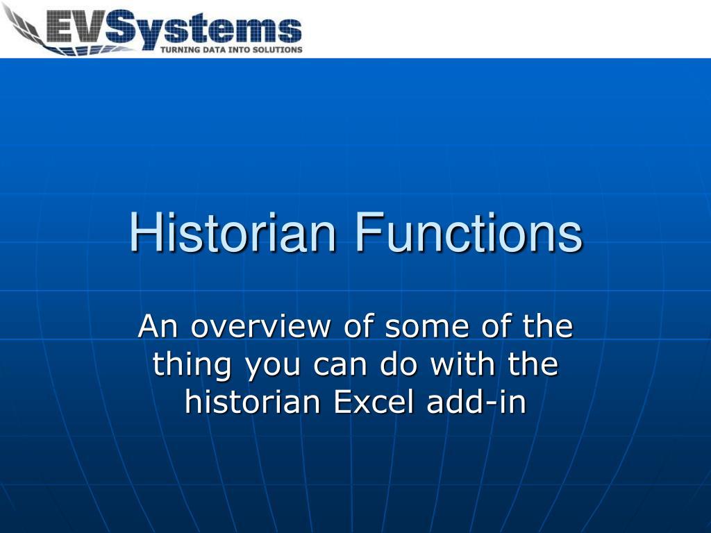 Historian Functions
