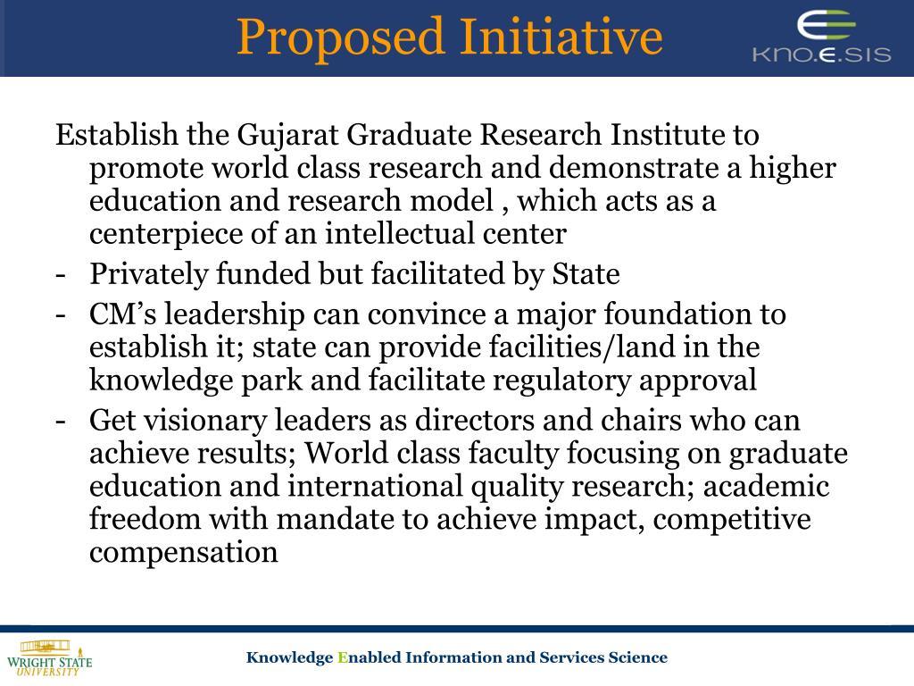 Proposed Initiative
