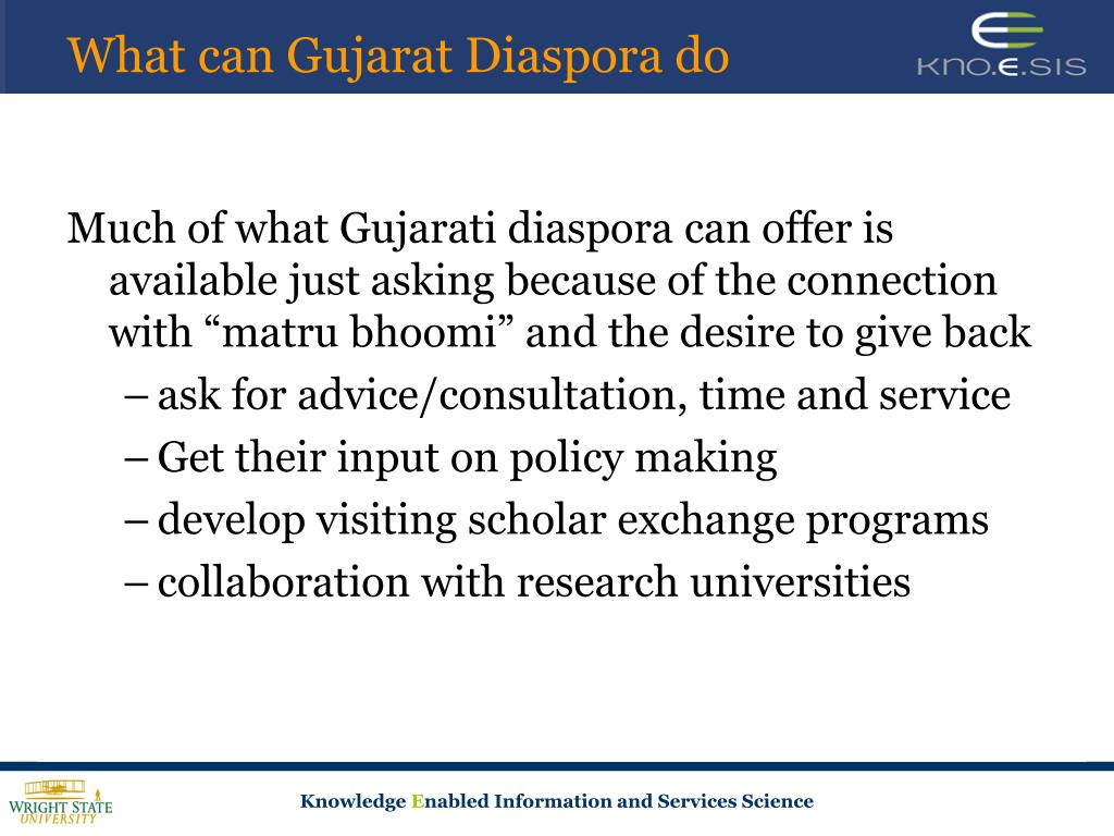 What can Gujarat Diaspora do