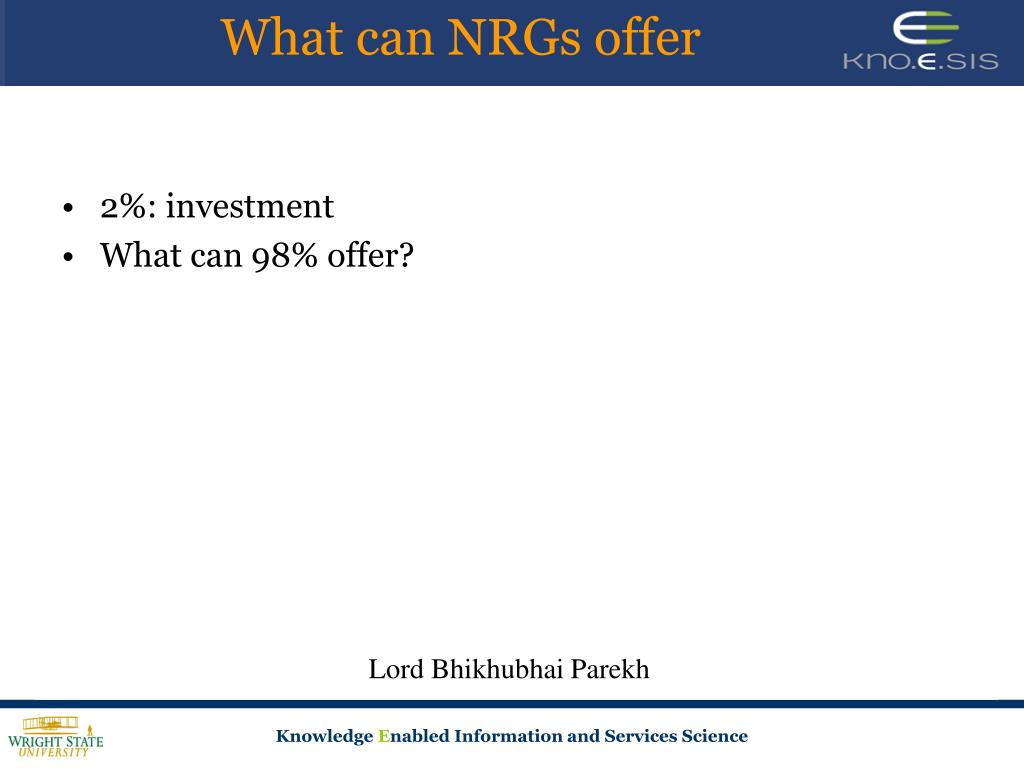 What can NRGs offer