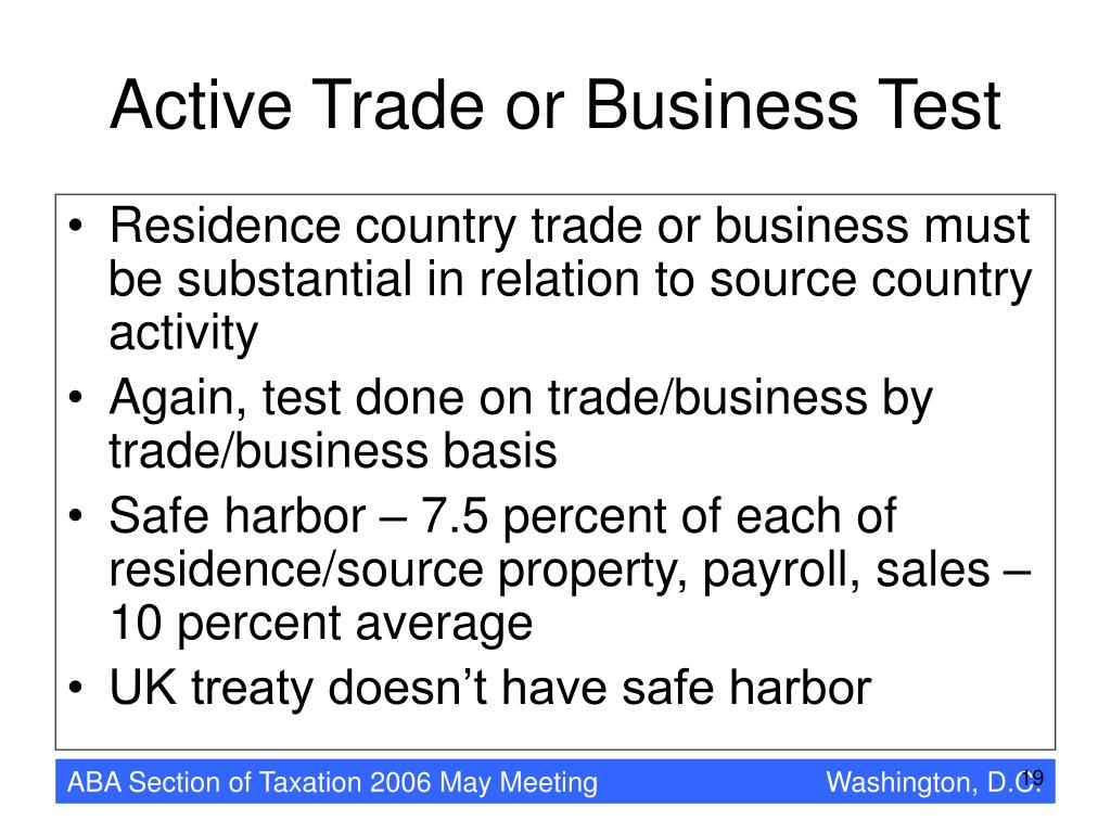 Active Trade or Business Test