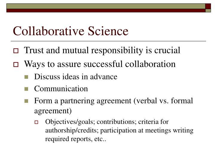 Collaborative Science