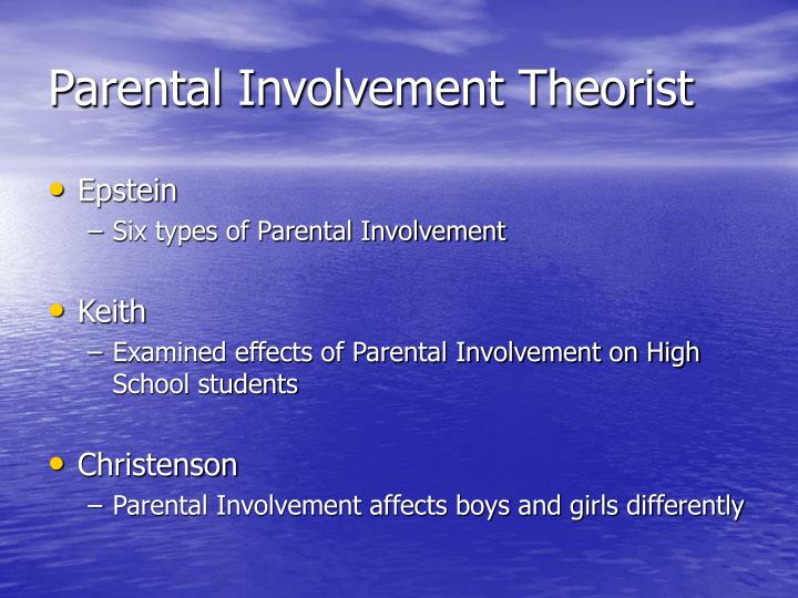 Parental Involvement Theorist