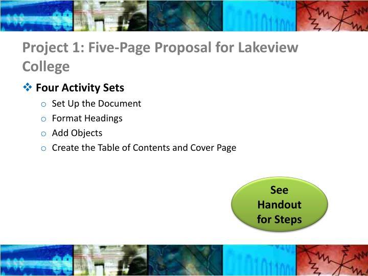 Project 1: Five-Page Proposal for Lakeview College