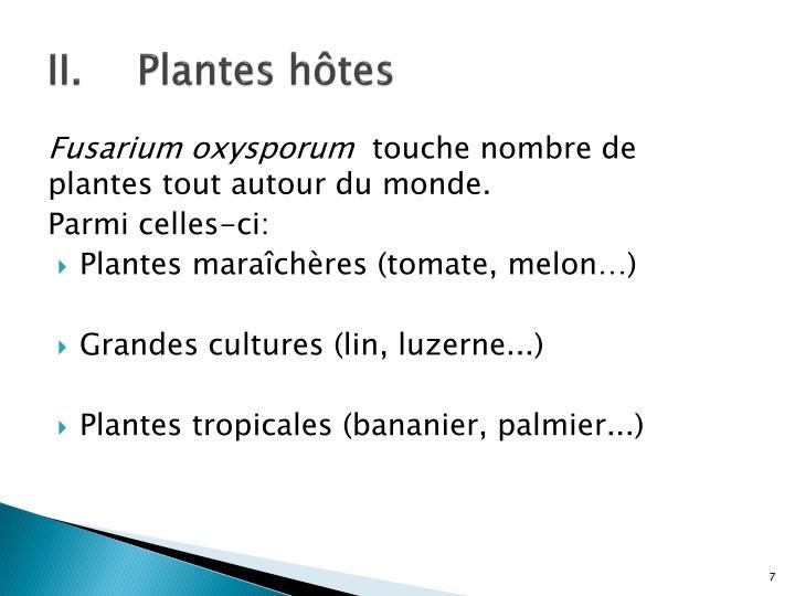 Plantes hôtes