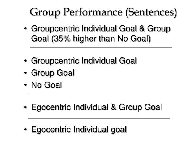 Group Performance (Sentences)